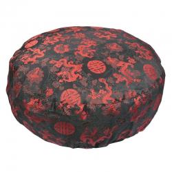 Meditationskissen Schwarz/Rot mit Drachen