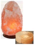 Salzkristalllampen & Teelichter